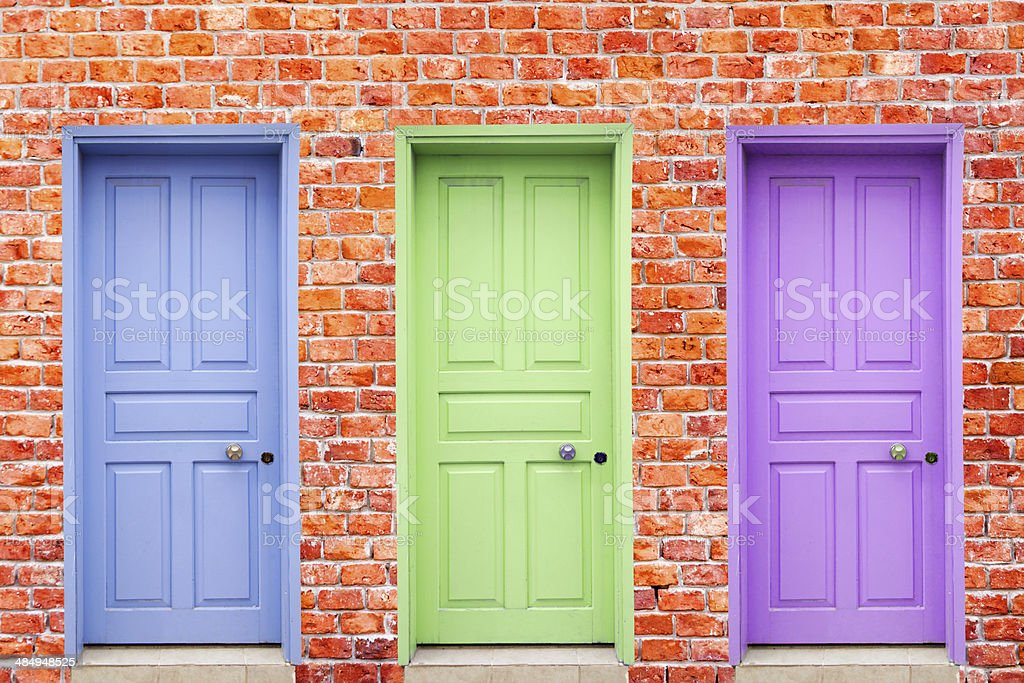 Colorful Doors stock photo
