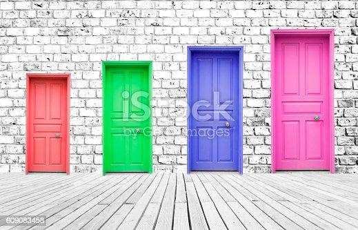 istock Colorful Doors 609083458