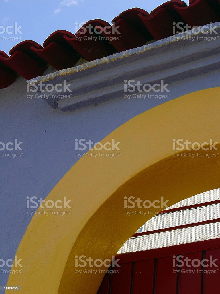 Colorful Doorway royalty-free stock photo