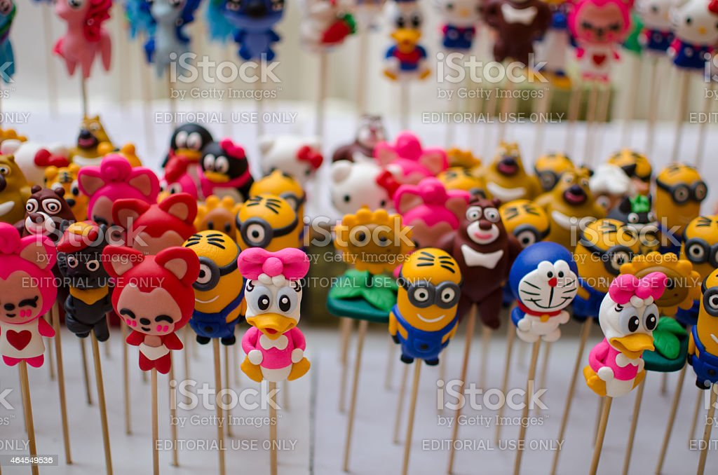 Colorful Dough Figurines stock photo