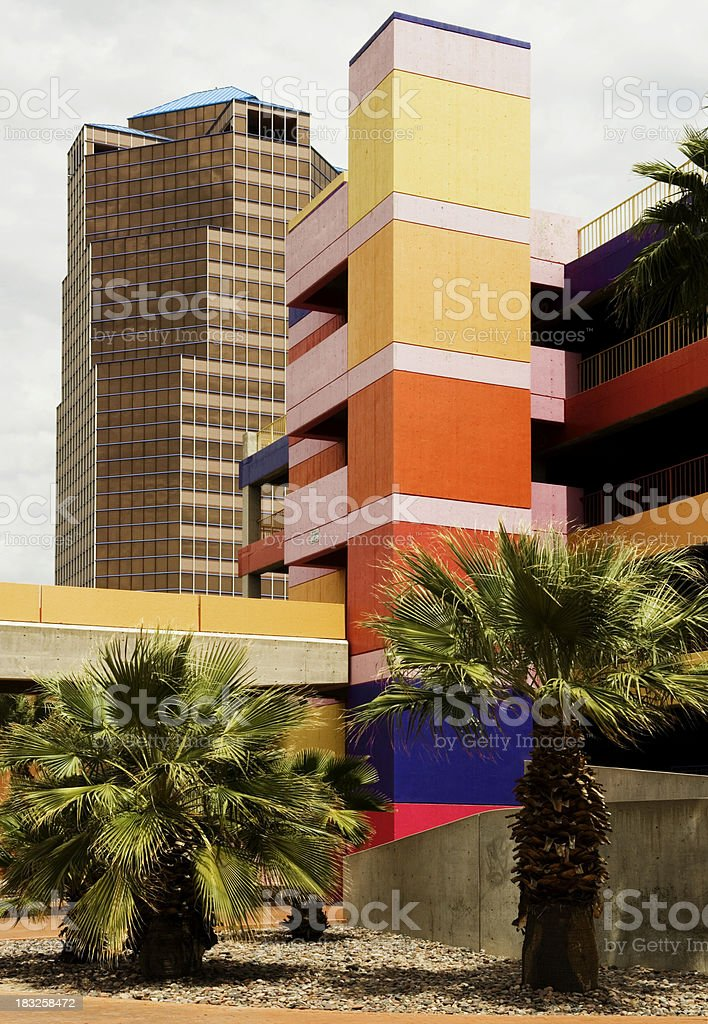 Colorful Downtown Tucson royalty-free stock photo