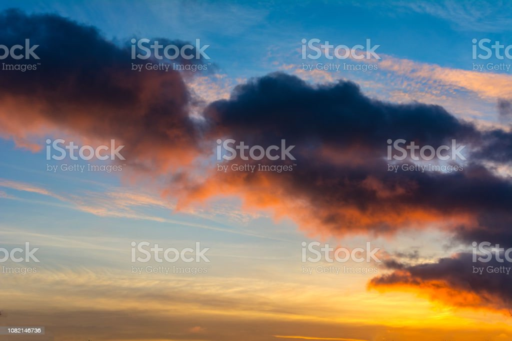 sunset with colorful dramatic sky