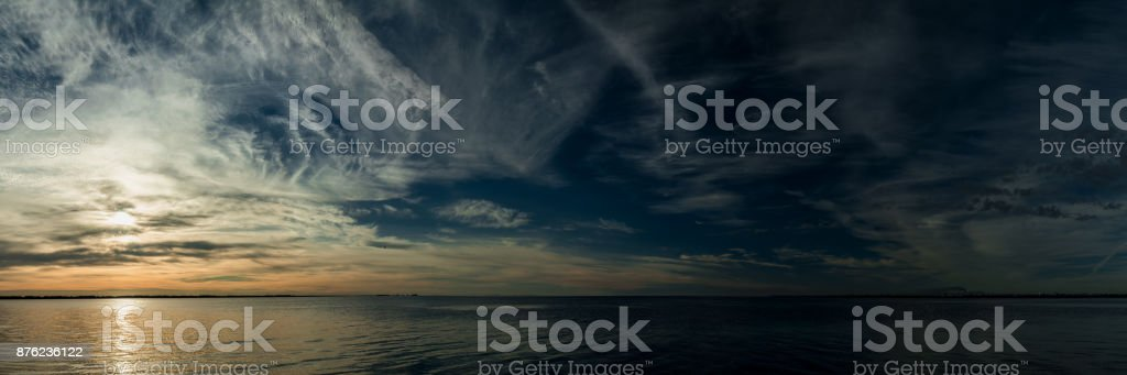 Colorful dramatic sky with clouds at sunrise royalty-free stock photo