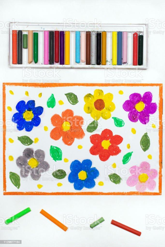 Foto De Desenho Colorido Flores Lindas Da Primavera E Mais