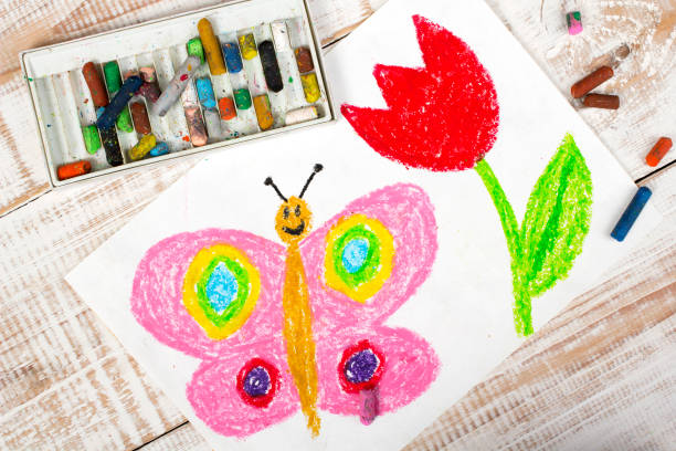 Colorful drawing happy butterfly and beautiful tulip picture id675365560?b=1&k=6&m=675365560&s=612x612&w=0&h=b7ssrqwjgdnxqotxhzjzxhiqg5vlebyglhsabxkw0ii=
