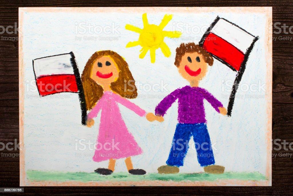 Photo Libre De Droit De Dessin Coloré Souriant Enfants