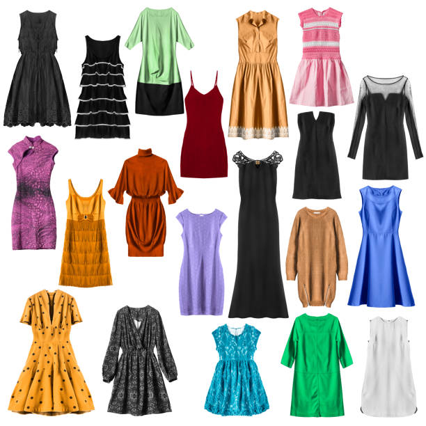 İzole renkli elbiseler stok fotoğrafı