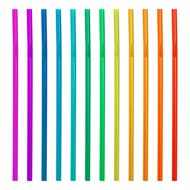 Colorful drinking straws isolated on white background. Plastic straws collection. ( Clipping path ) Colorful drinking straws isolated on white background. Plastic straws collection. ( Clipping path ) drinking straw stock pictures, royalty-free photos & images