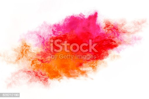 516947346istockphoto Colorful Dust Particle Explosion Isolated on White 525212190