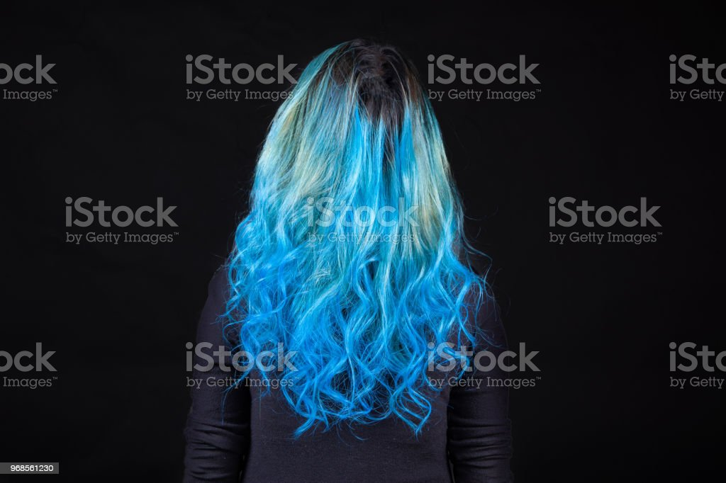 Colorful dyed hair stock photo