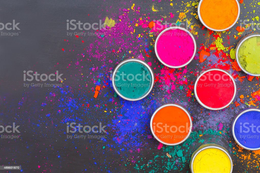 Colorful dyes stock photo