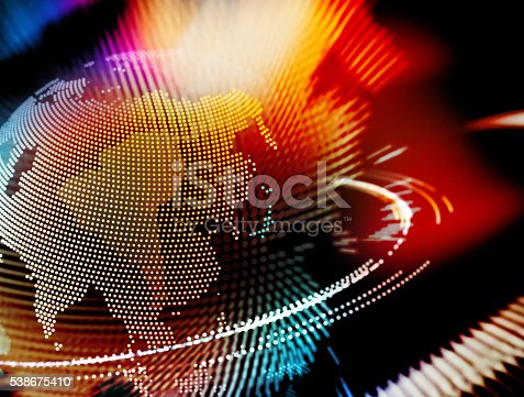 istock Colorful Earth Globe Asia Abstract Concept 538675410