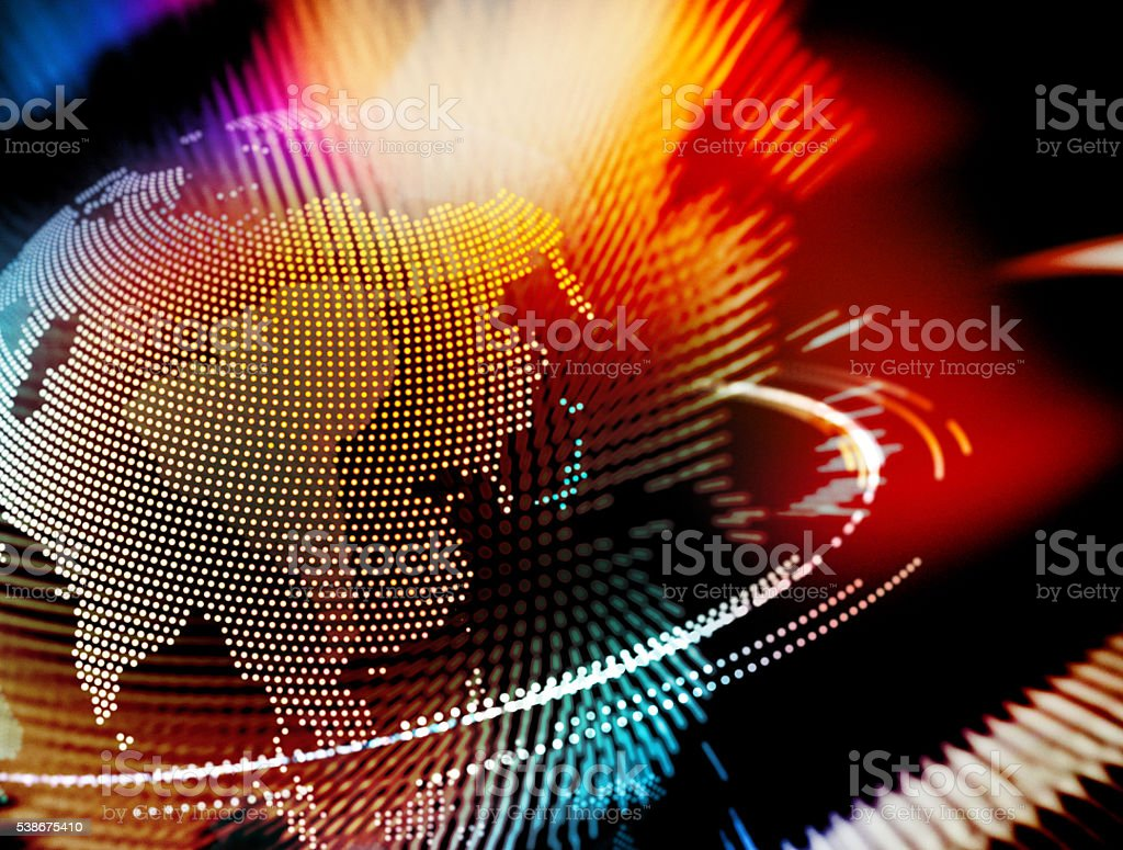 Colorful Earth Globe Asia Abstract Concept stock photo