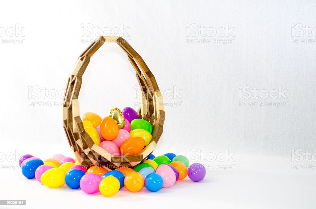 Colorful Easter Basket stock photo