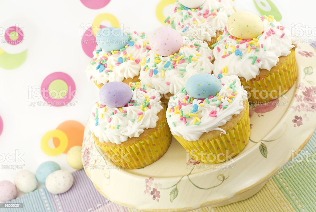 Colorful Easter Cupcakes royalty-free stock photo
