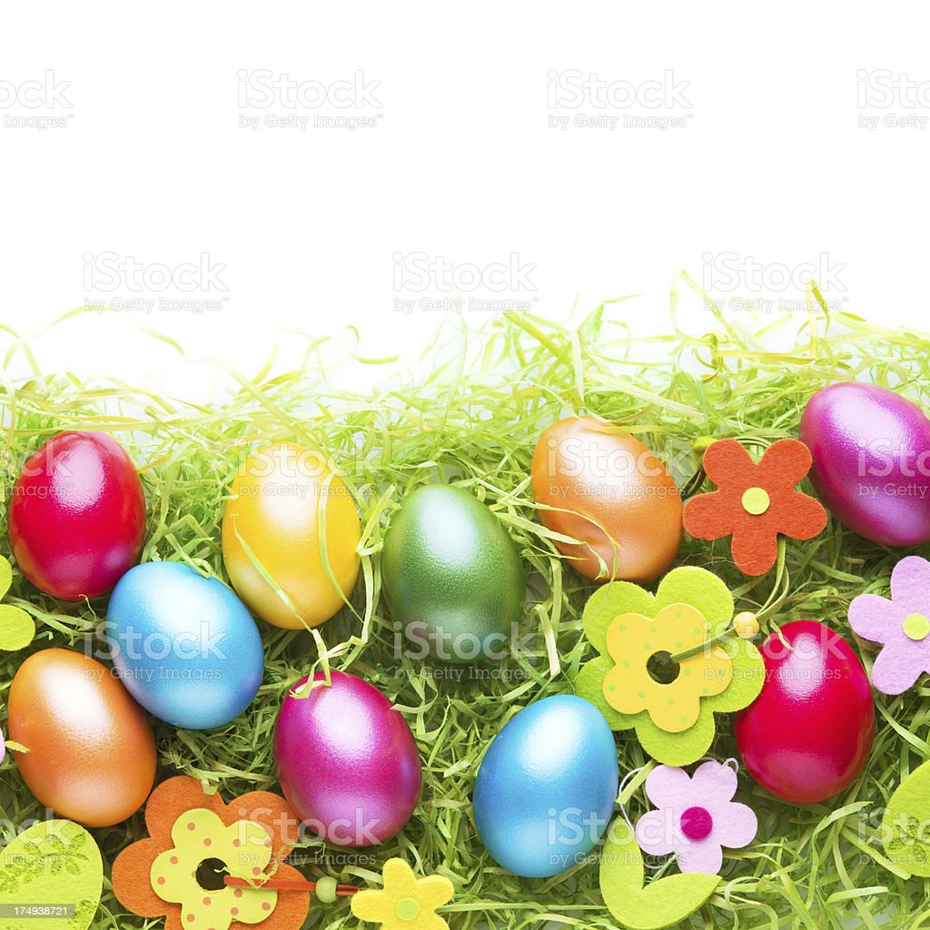 Colorful easter egg decoration royalty-free stock photo