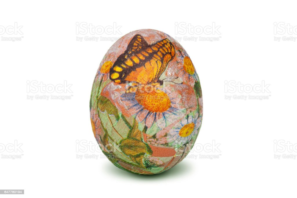Colorful Easter egg stock photo