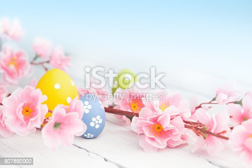 istock colorful easter eggs and flowers 927892002