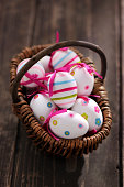 Colorful Easter Eggs in a basket   - XXXL Image