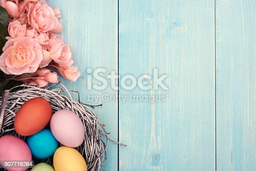 922658520 istock photo Colorful Easter eggs in the nest 507716264