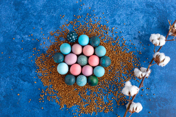 Colorful easter eggs on golden decorative rocks dark blue background picture id1215092744?b=1&k=6&m=1215092744&s=612x612&w=0&h=v7ycbqb85qwe2bibtsrrcdydallaq0s5gg4vfyew8im=