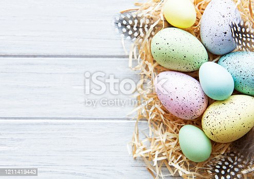 922843504 istock photo Colorful Easter eggs 1211419443