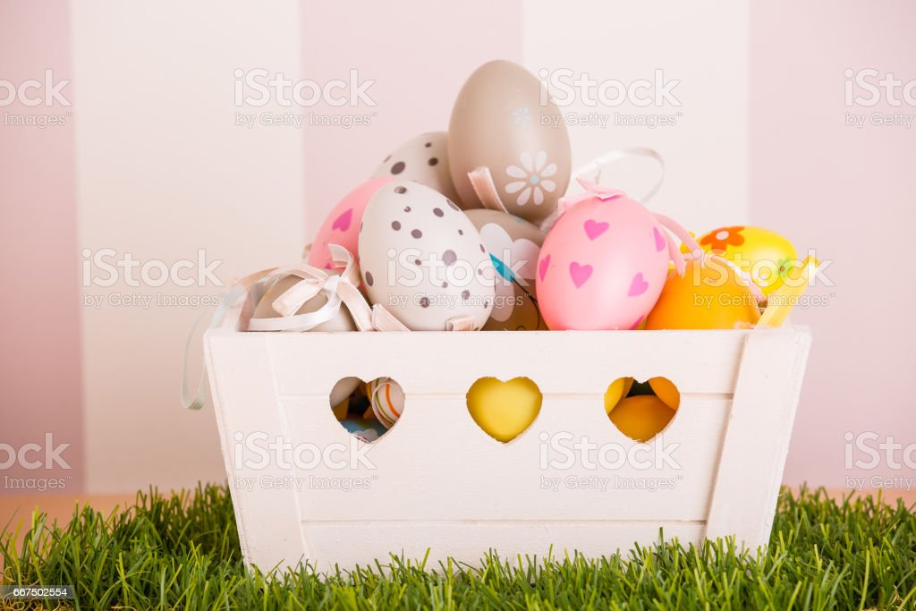 colorful easter eggs foto stock royalty-free