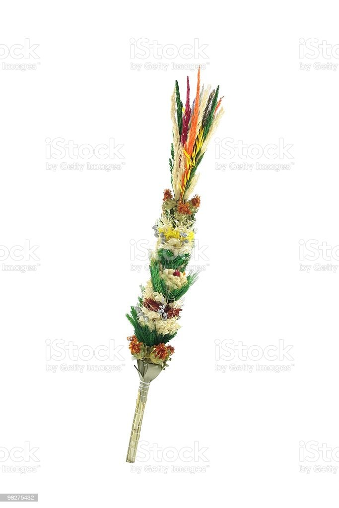 Colorful Easter palm. royalty-free stock photo
