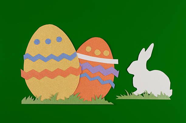 Colorate uova e conigli - foto stock