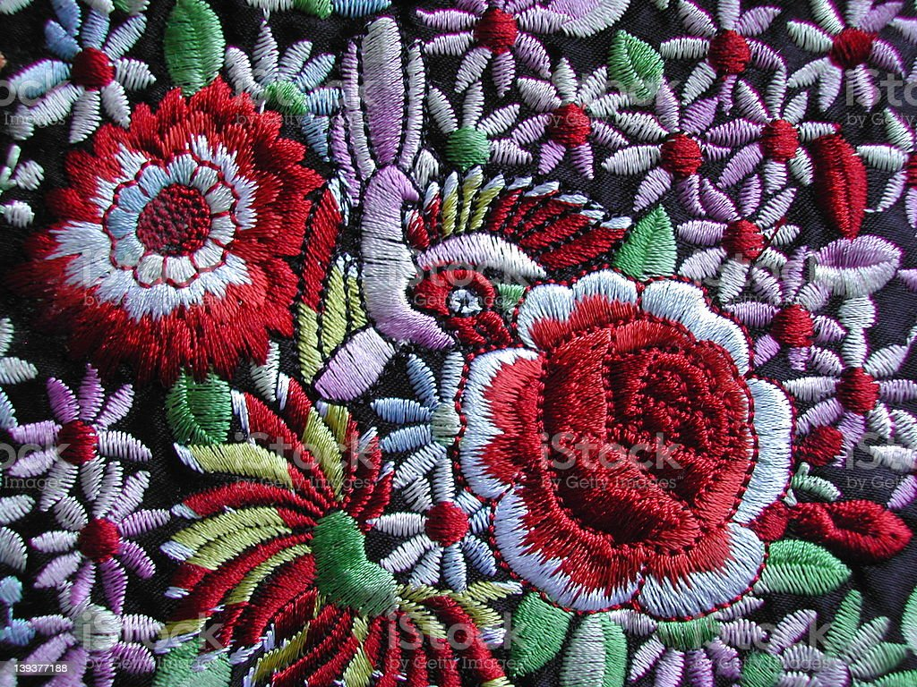 Colorful  Embroidery royalty-free stock photo