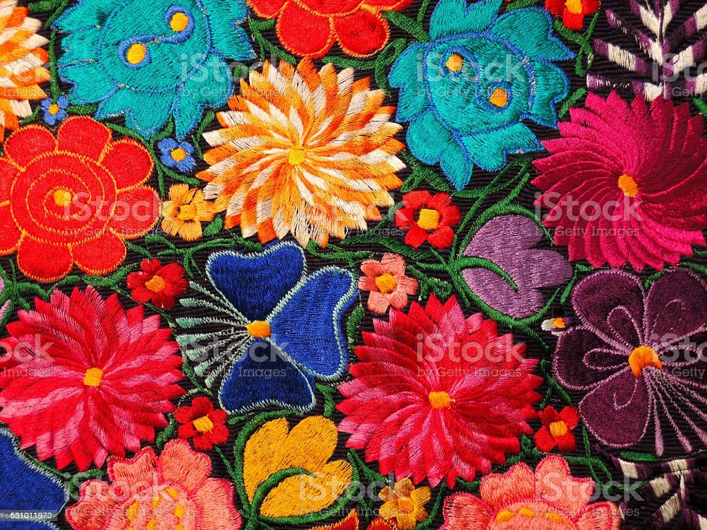 Colorful Embroidery stock photo