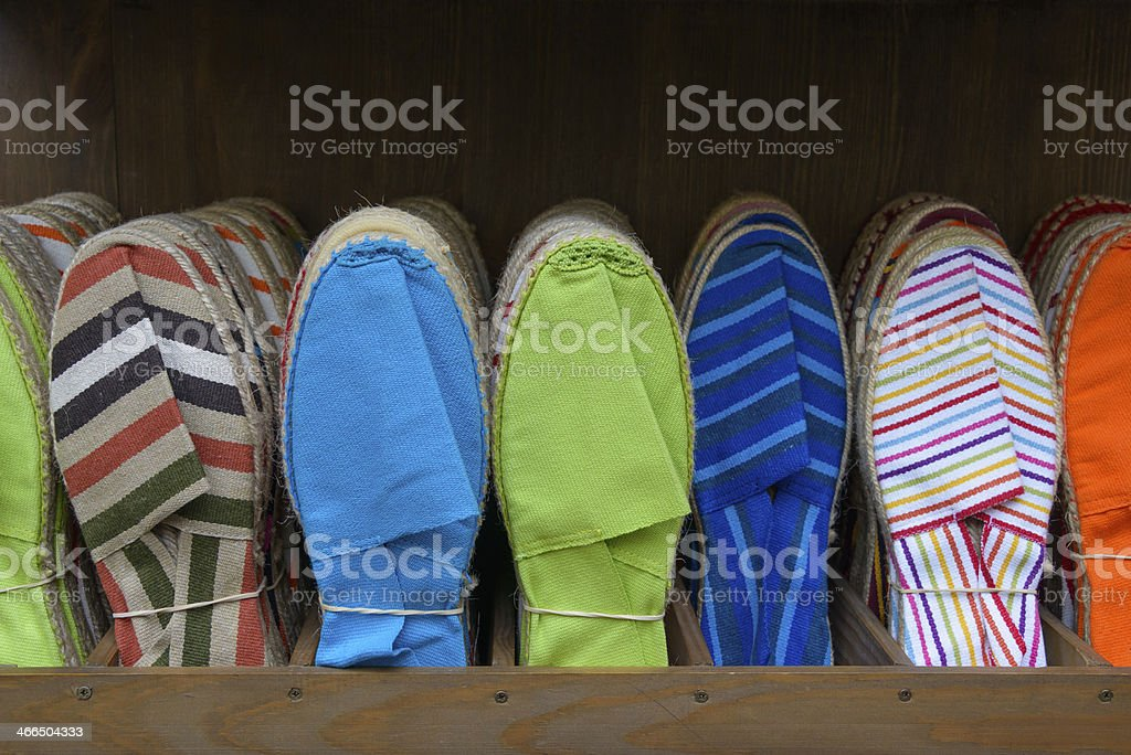 Colorful espadrilles stock photo