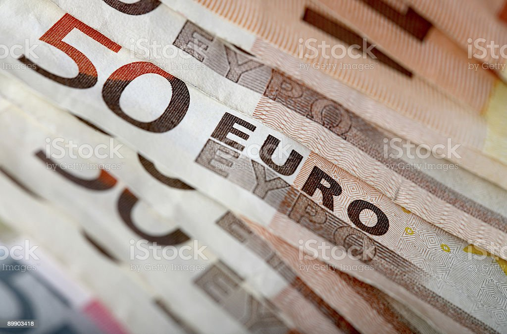 Colorful euro banknotes, close-up royalty-free stock photo