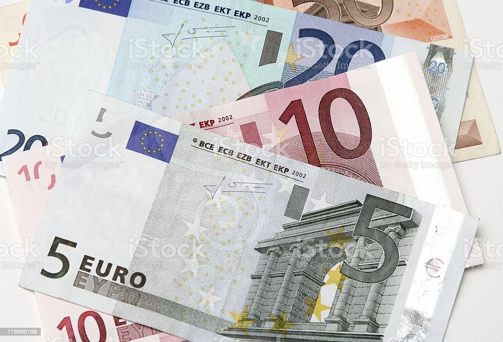 Colorful euro banknotes royalty-free stock photo
