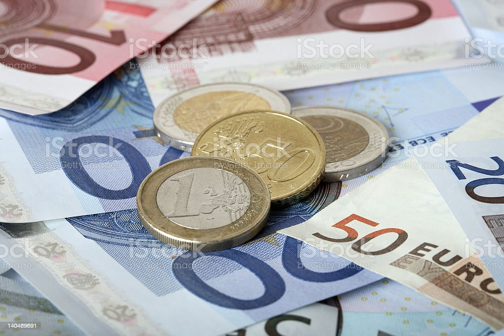 Colorful euro banknotes royalty-free stock photo