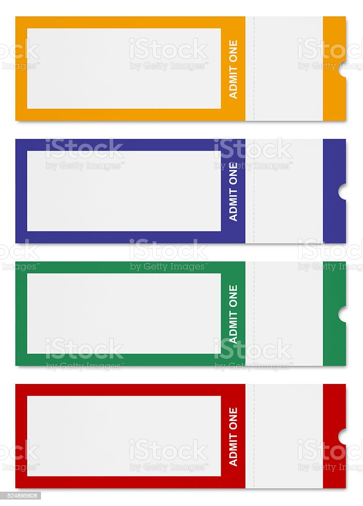 Colorful Event Tickets (with path) stock photo