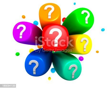 899255516istockphoto Colorful explosion and Question Marks. 185094133