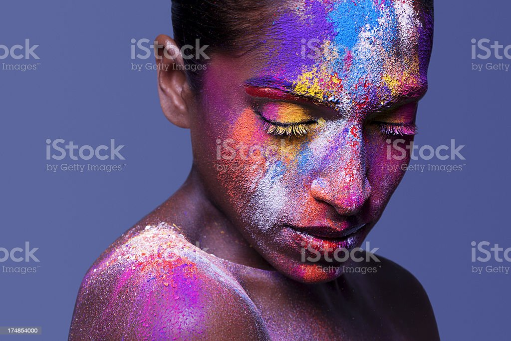 Colorful Extreme Beauty royalty-free stock photo