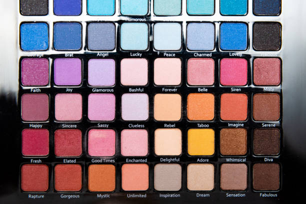 Cтоковое фото Colorful eye shadows