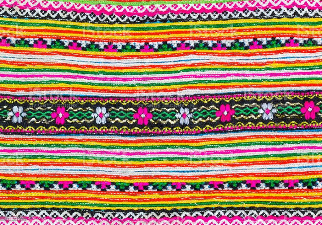 Colorful  fabric pattern stock photo