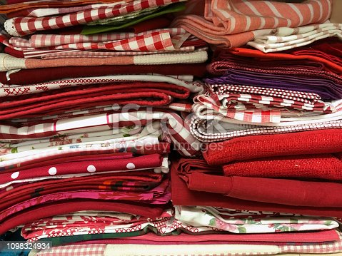 1164401397 istock photo Colorful fabric samples 1098324934
