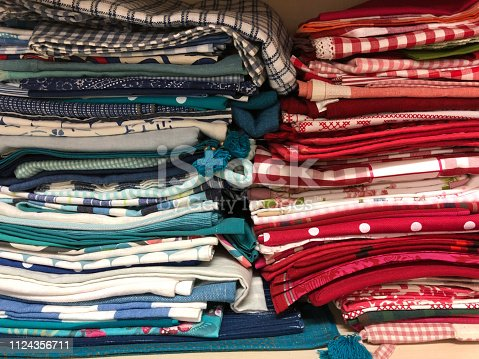 1164401397 istock photo Colorful fabric samples 1124356711