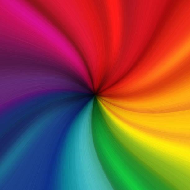 colorful fabric texture. the rainbow twists into a spiral. illustration - pena de pássaro algodão imagens e fotografias de stock