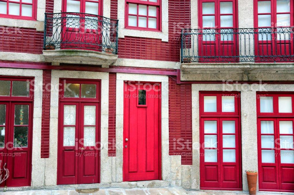 Colorful facade of Porto royalty-free stock photo