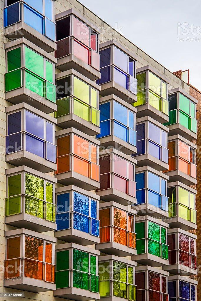 Colorful facade stock photo