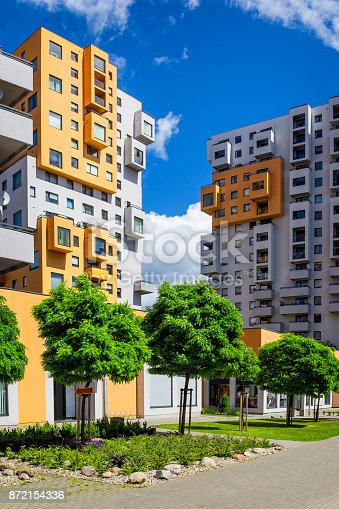 889473004 istock photo Colorful facades of apartment buildings in modern housing estate 872154336