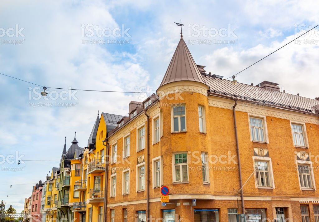 Colorful Facades Of Buildings In Helsinki Finland Stock Photo Download Image Now Istock