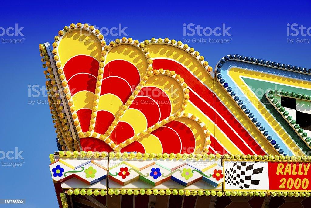 Colorful Fairground Ride Decoration royalty-free stock photo