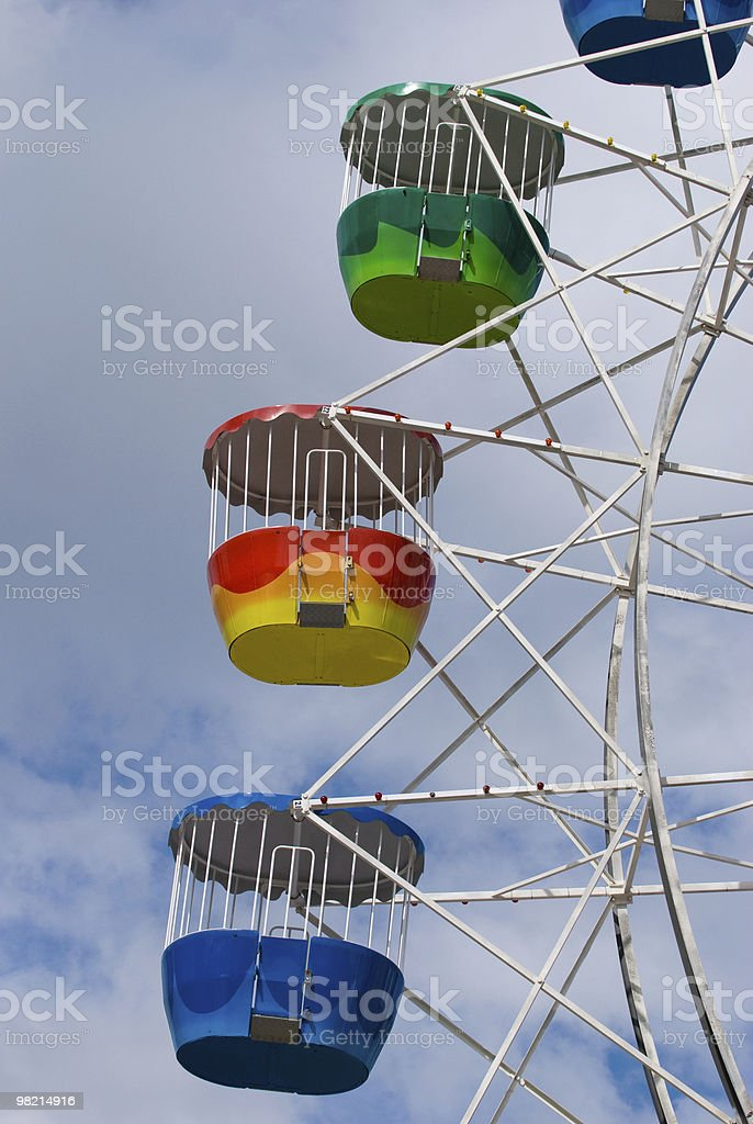 Colorful ferris wheel carriages royalty-free stock photo