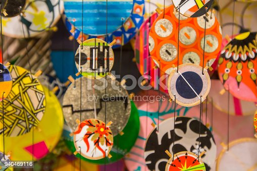1135969446 istock photo Colorful festive party circle decoration.Paper party decoration 940469116